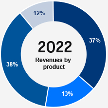 Revenues by product